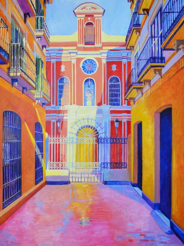 Abadía de Santa Ana. (Málaga). Year 2012. Acrylic on panel 130 x 100 cm-51,2¨x 39,4¨