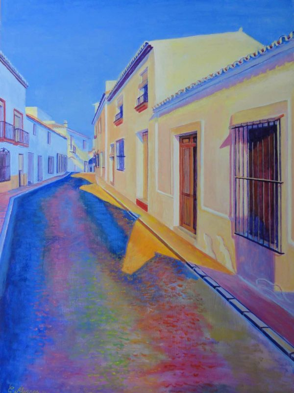 Calle Antero (Estepona). Year 2014. Acrylic on panel. 70 x 50 cm 27,5¨x 19,7¨