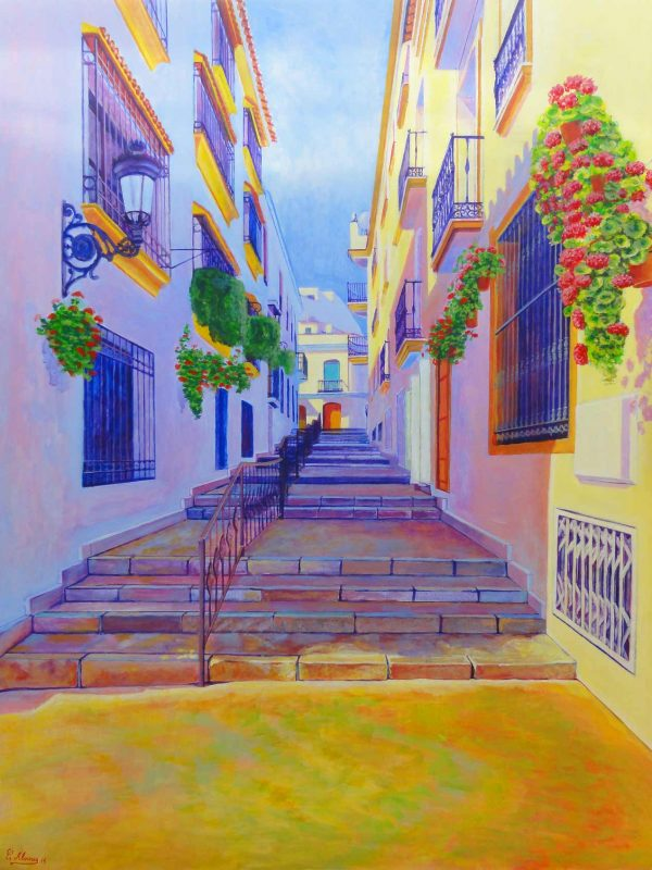 Calle Carlos Herrera(Estepona). Year 2013. Acrylic on panel 130 x 100 cm-51,2¨x 39,4¨