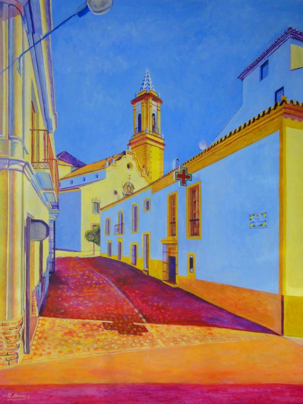 Calle de Blas Ortega (Estepona). Year 2012. Acrylic on panel 130 x 100 cm-51,2¨x 39,4¨
