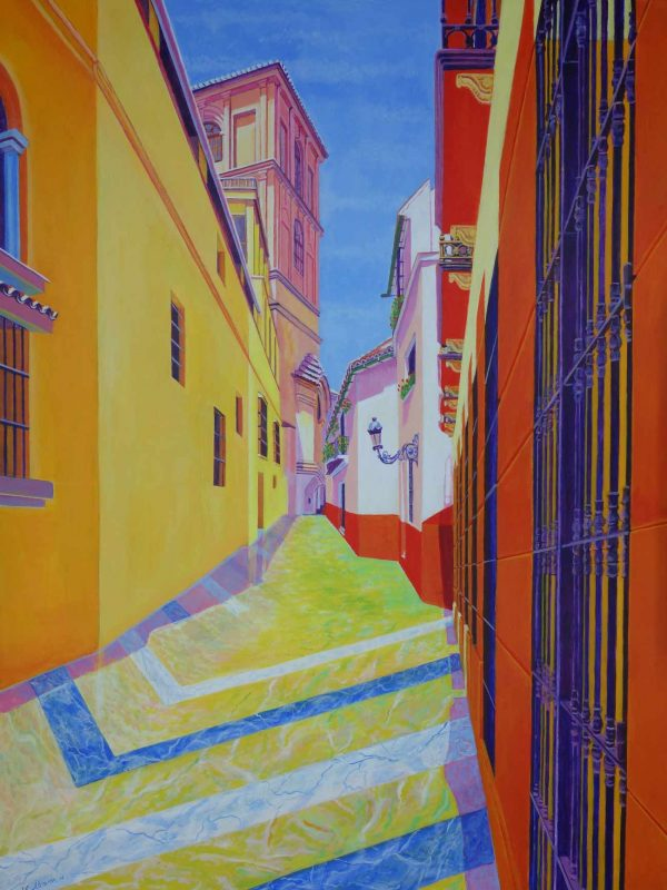 Calle Pedro de Toledo (Málaga). Year 2016. Acrylic on panel- 100 x 75 cm-39,4¨x 29,5¨