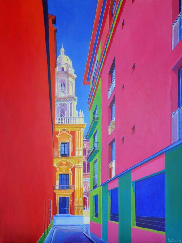 Calle Salinas (Málaga). Year 2018. Acrylic on panel- 100 x 75 cm-39,4¨x 29,5¨