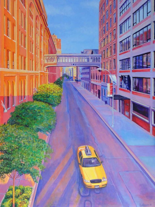 Chelsea desde la High Line (New York). Year 2013. Acrylic on panel- 100 x 75 cm-39,4¨x 29,5¨
