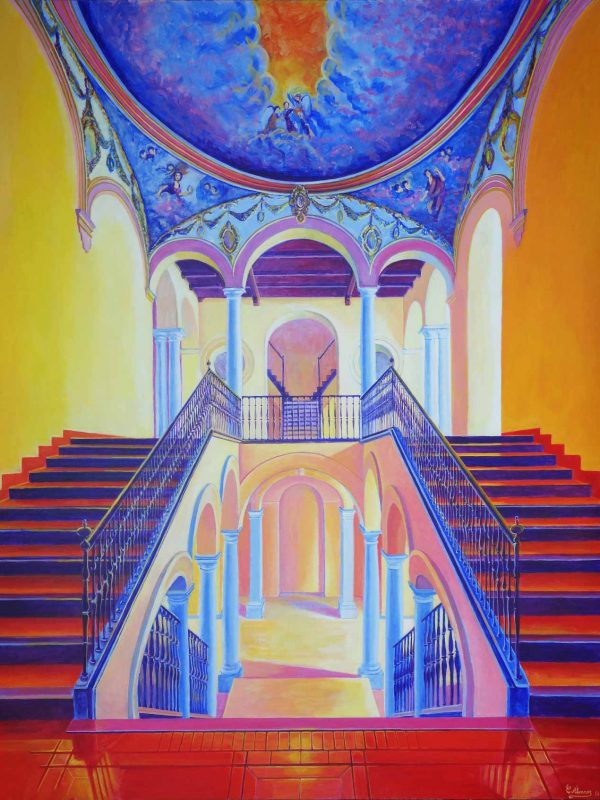 Escalera arzobispal (Málaga). Year 2016. Acrylic on panel 130 x 100 cm-51,2¨x 39,4¨
