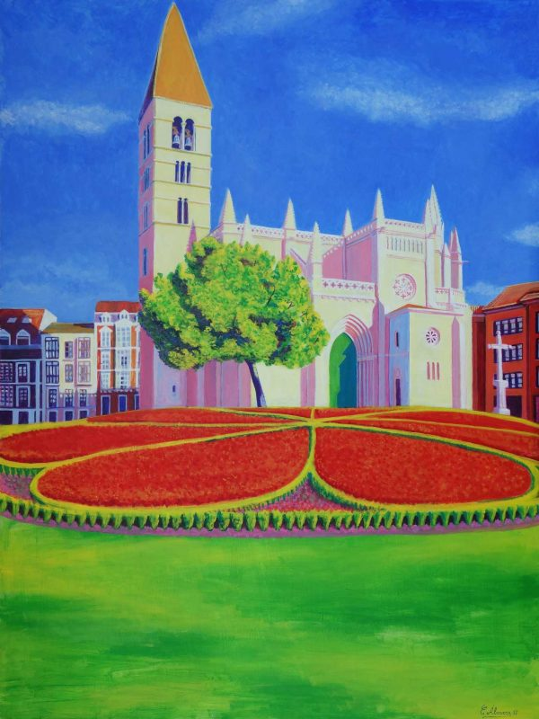 La Antigua (Valladolid) . Year 2017. Acrylic on panel- 100 x 75 cm-39,4¨x 29,5¨