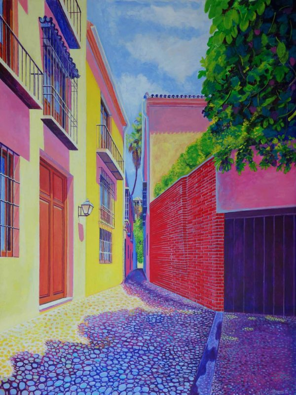 Postigo de San Agustin (Málaga).. Year 2016. Acrylic on panel- 100 x 75 cm-39,4¨x 29,5¨