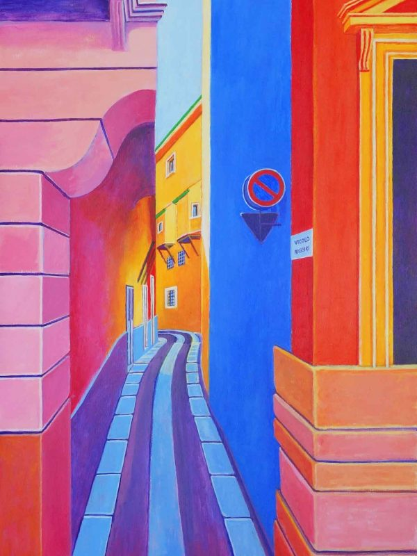 Viccolo Raggiri (Verona). Year 2018. Acrylic on panel 130 x 50 cm-51,2¨x 19,7¨