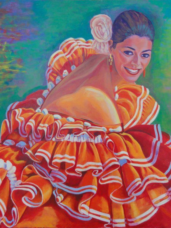 El nacimiento de la Venus flamenca. Year 2016. Acrylic on panel 60 x 80 cm- 24,6¨x 31,5¨