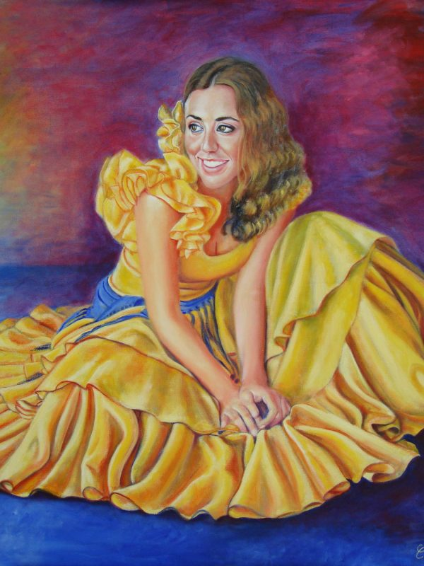 Flor amarilla. Year 2009. Oil on canvas. 70 x 73 cm -27,5¨x 28,7¨