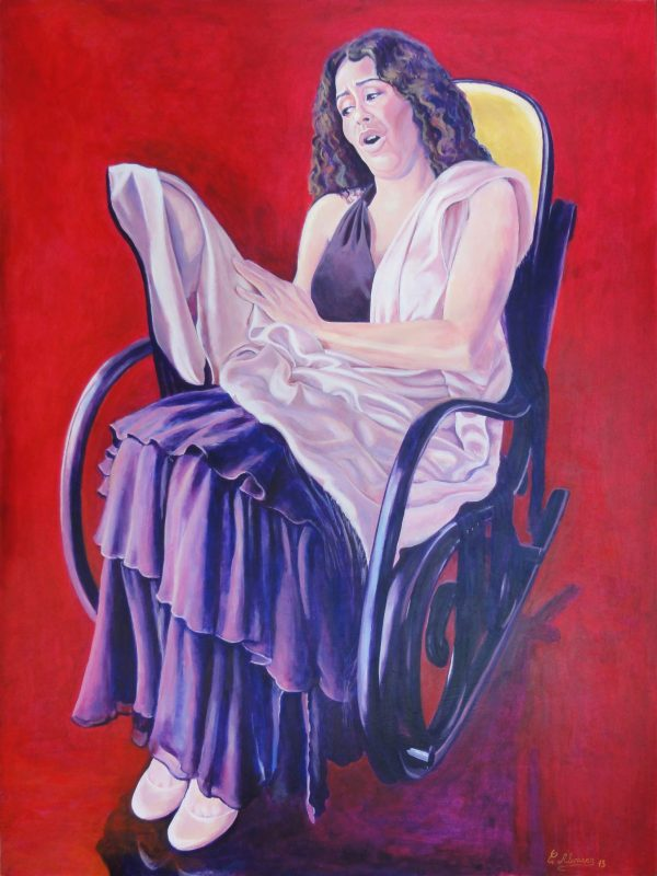 La nana flamenca. Year 2013. Acrylic on panel. 100 x 75 cm-39,4¨x 29,5¨