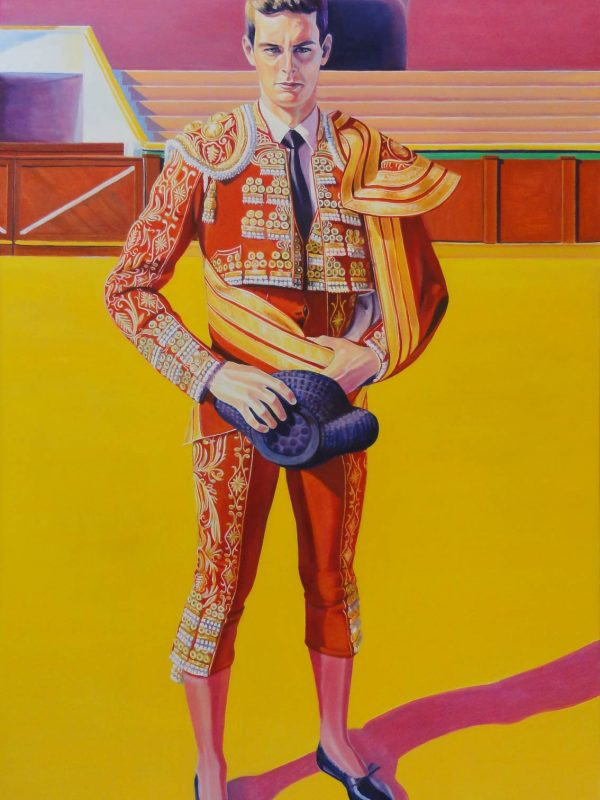 Torero de grana y oro. Year 2015. Oil on canvas. 160 x 100 cm-63¨x 39,4¨