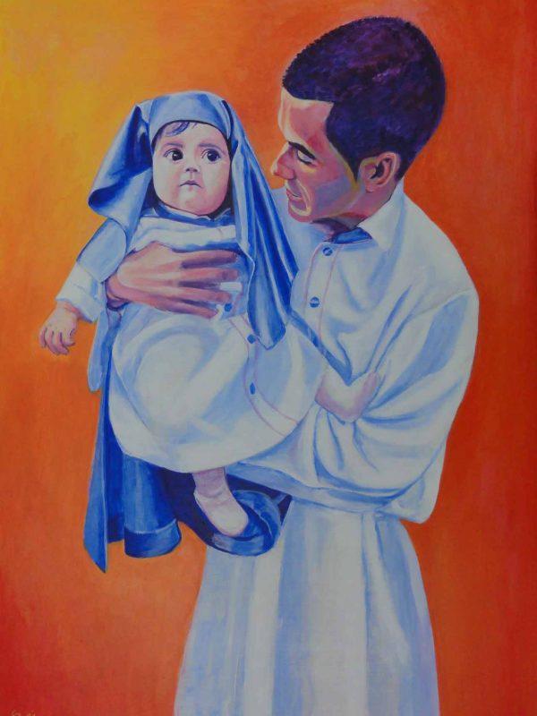 La más joven cofrade del Cautivo. Year 2015. Acrylic on panel. 70 x 50 cm 27,5¨x 19,7¨